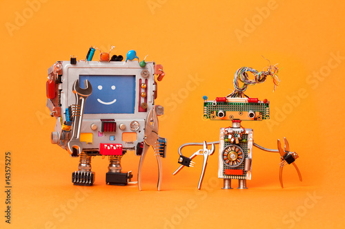 Fotografie, Obraz  Robots friends ready for service repair