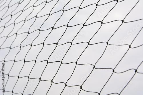Obraz Net pattern. Rope net silhouette. Soccer and football net pattern. - fototapety do salonu