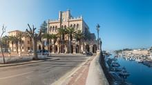 Town Hall Square In Ciutadella, Menorca. Spain