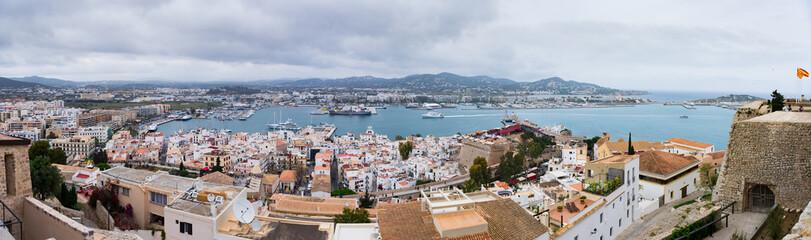 Panorama view in Ibiza. Spain