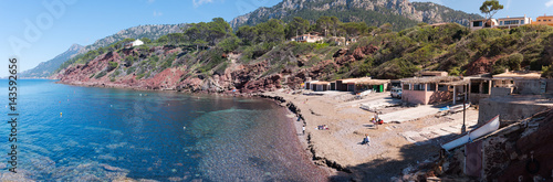 Photo Panoramic view in Port d'es Canonge, Banyalbufar. Mallorca. Spain