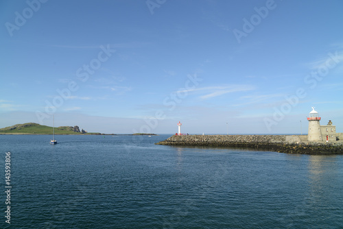 Photo  Harbour with Lighthouse at Howth, Ireland