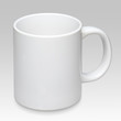 Large white mug on a gray background