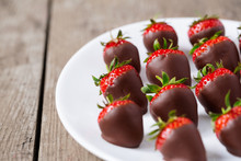 Strawberries Dipped In Chocola...