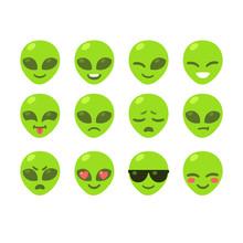 Alien Emoticon Set