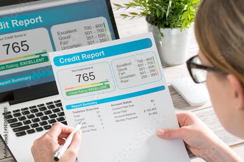 Fotografía  report credit score banking borrowing application risk form
