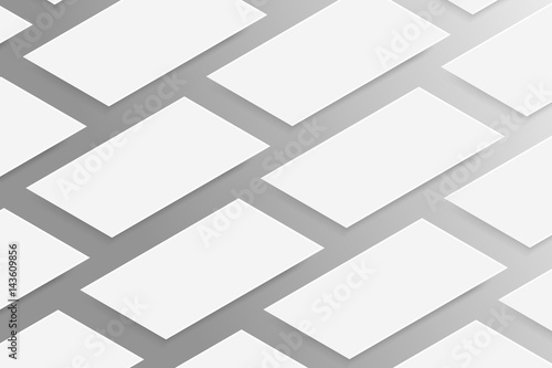 Fotografia, Obraz  Vector realistic isolated business cards on the gray background
