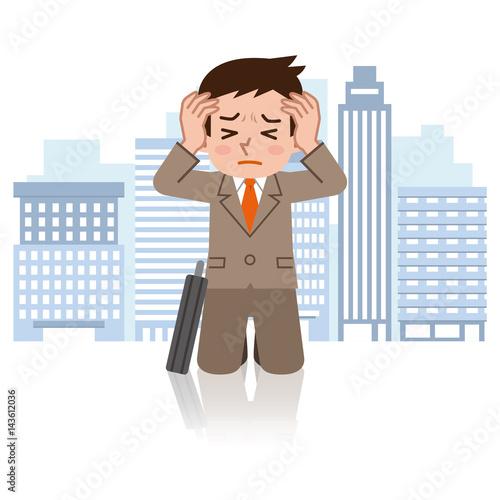 Fotografie, Obraz  不安を抱えるビジネスマン