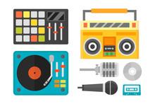Creative Modern Musical Instrument Concept Midi Launchpad Equipment Vector Illustration.