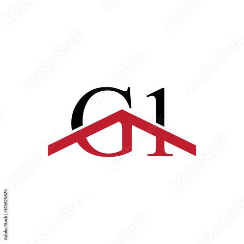 Obraz na plátne G1 initial letter number