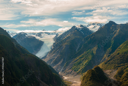Photo Aerial view of Fox glaciers Southern island, New Zealand