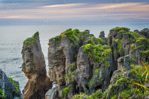 Fotografie, Obraz  The Pancake Rocks, Paparoa National Park, New Zealand.