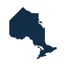 Ontario Map Vector.