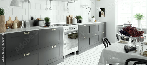 Modern Kitchen Arrangement Panoramic Buy This Stock Illustration And Explore Similar Illustrations At Adobe Stock Adobe Stock