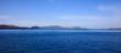 Cruise ship near Santorini Greece