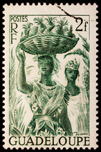 Young Creole Women Stamp