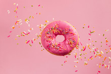 Sprinkled Pink Donut