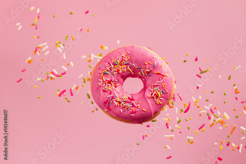 Sprinkled Pink Donut Canvas Print