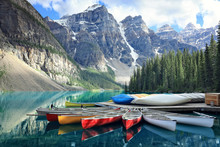 Moraine Lake In The Rocky Moun...
