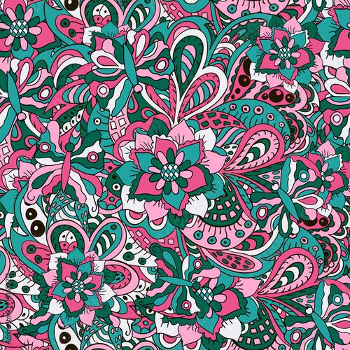 stylowe-ozdoby-narodowe-kwiaty-i-faliste-elementy-wzor-sztuki-bez-szwu-turkusowe-i-rozowe-odcienie