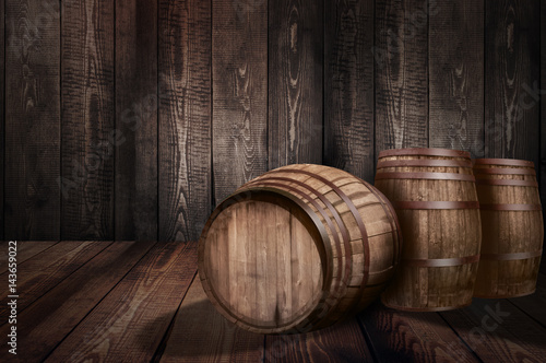 Fotomural background of barrel whiskey winery beer