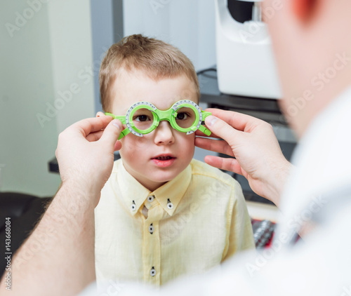 d6ea0c6e20 Trial frame. Glasses prescription for a child. Child s hypermetropy. Child s  shortsightedness. Child s