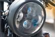 Handle bar and Headlight of big bike motorcycle