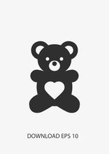 Bear Doll Icon, Vector