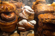 Cinnamon buns, russian pirogi (pirozhki) and Christmas sweets