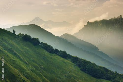 Obraz Above the Alpe di Ledro, Trentino, Alps, Italy - fototapety do salonu
