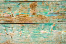 Old Board With Peeling Paint