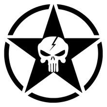 Stern Mit Weißem Schädel