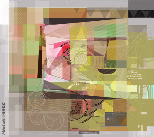 cubism  with table - 143694267