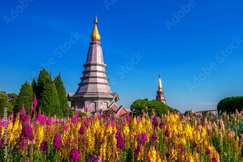 Photo  Landmark pagoda in doi Inthanon national park at Chiang mai, Thailand