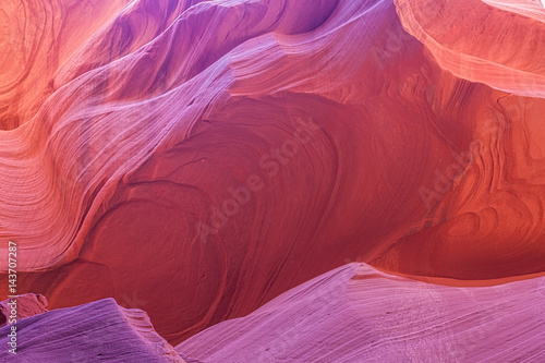 Aluminium Prints Red Scenic Antelope Canyon