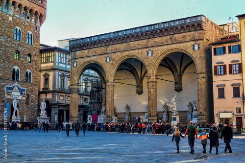 Florenz, Loggia dei Lanzi Canvas Print