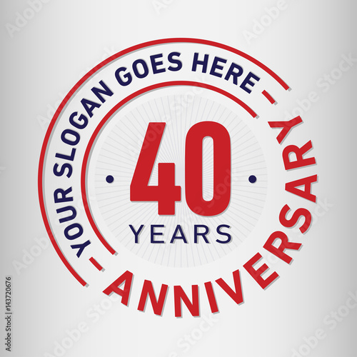 Fotografia  40 years anniversary logo template.
