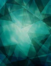 Abstract Teal Background With Dark Triangles. Vector Graphic Pattern