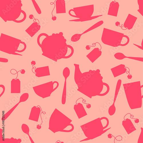 picie-herbaty-bezszwowe-tlo-z-sylwetka-naczynia-kuchenne-wzor
