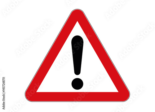 Carta da parati  Verkehrsschild Gefahrenstelle