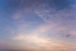 Colorful dramatic sky with cloud at sunset.Sky with sun background.