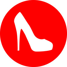 Red High Heel Shoe