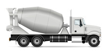 Mixer Truck Vector Illustratio...