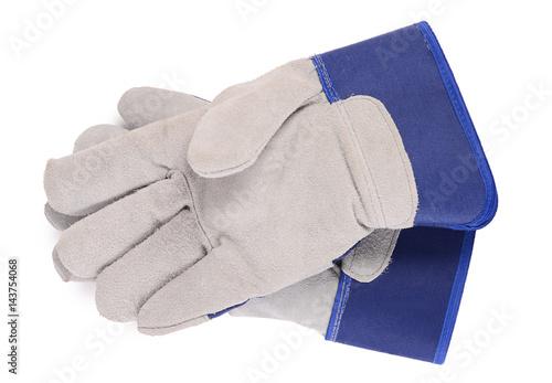 Fotografia, Obraz  Working mens gloves on white background