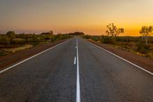 Sunset Over Australian Highway