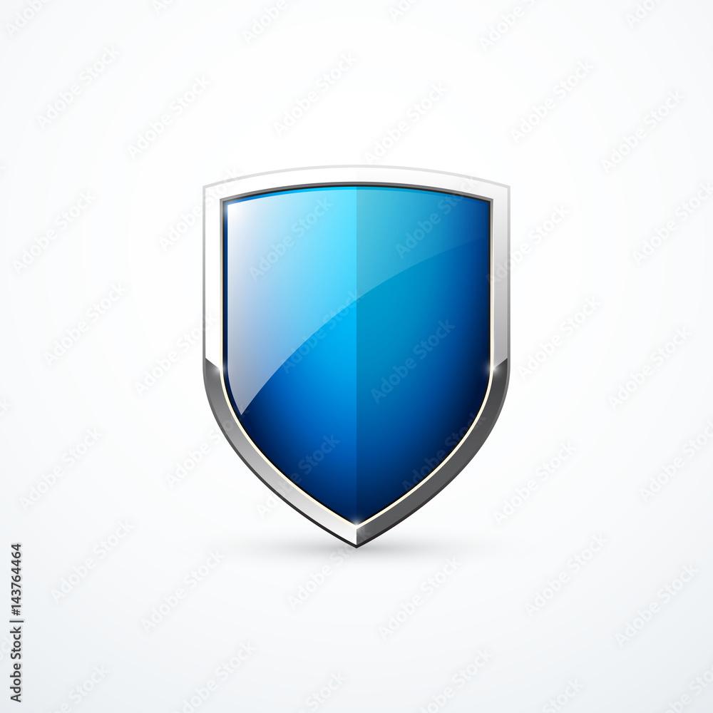 Fototapeta Vector blue shield