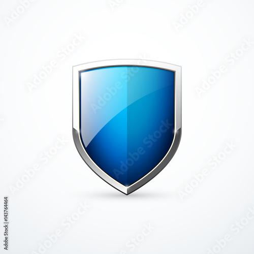 Obraz na plátně Vector blue shield