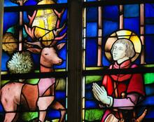 Stained Glass - Saint Hubertus Or Hubert