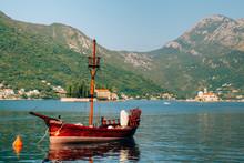 Wooden Sailing Ship. Montenegro, Bay Of Kotor. Water Transport