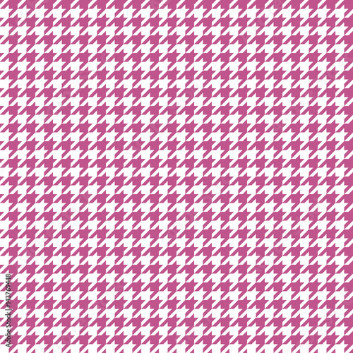 Stampa su Tela Seamless houndstooth pattern. Vector image.